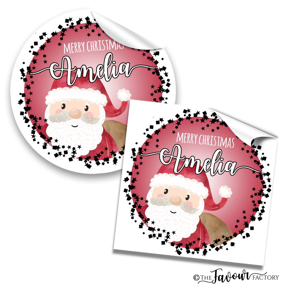 Christmas Stickers Santa Confetti