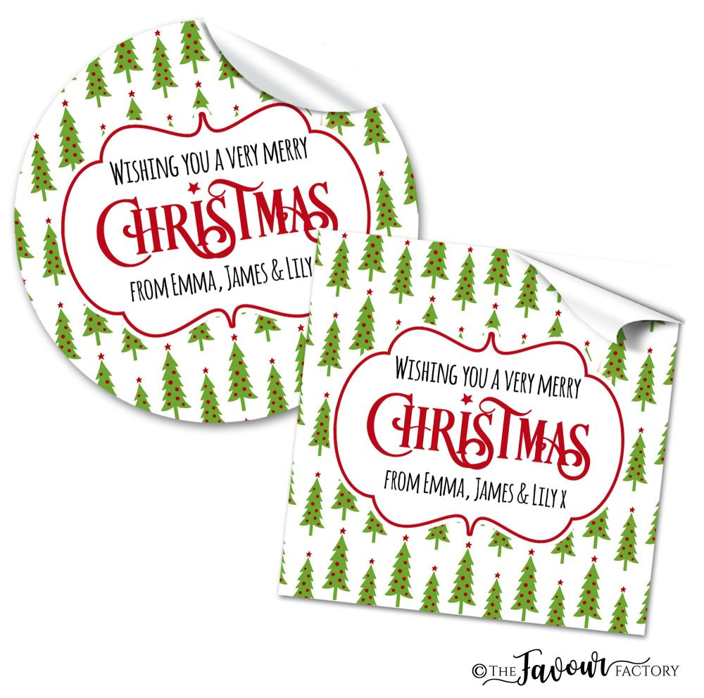 Christmas Stickers Berry Trees