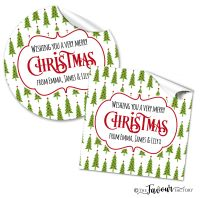 Personalised Christmas Stickers Berry Trees