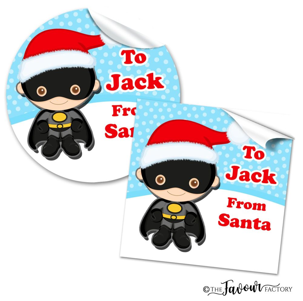 Personalised Christmas Stickers Batman