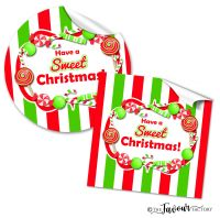Sweet Christmas Stickers Personalised