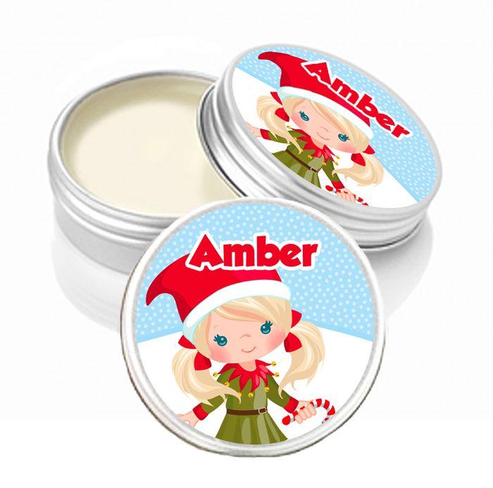 Personalised Christmas Lip Balm Blonde Little Girl x1