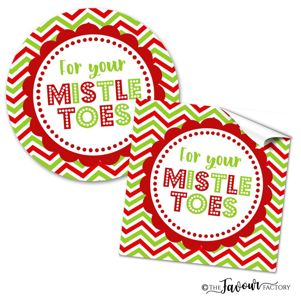 Personalised Christmas Stickers For Your Mistletoes