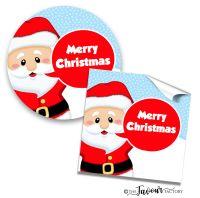 Personalised Christmas Stickers Santa Speech Bubble