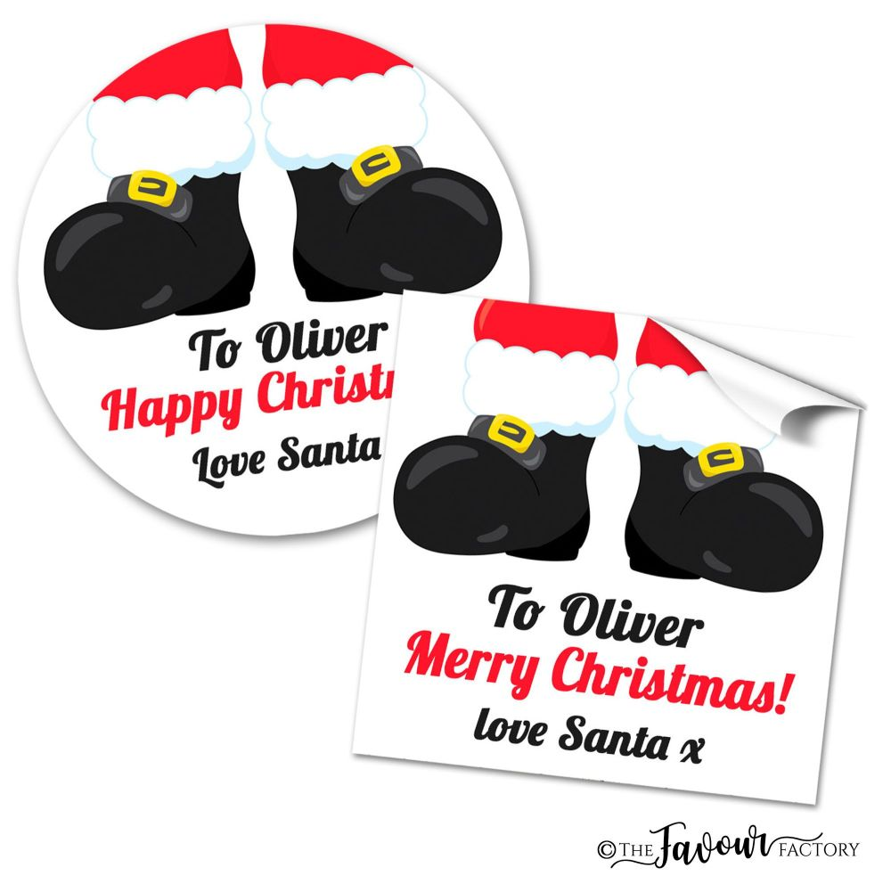 Christmas Stickers Santas Boots