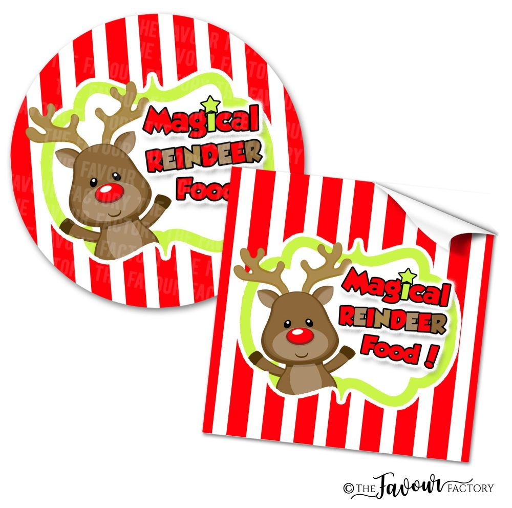 Christmas Stickers Magical Reindeer Food
