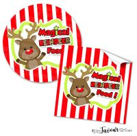 Personalised Christmas Stickers Magical Reindeer Food