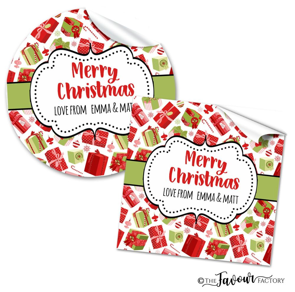 Christmas Stickers Gifts & Baubles