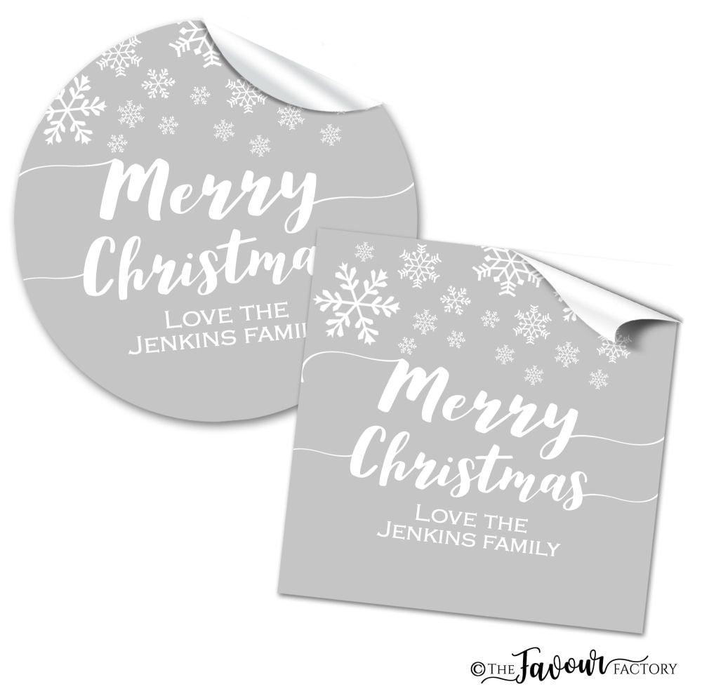 Christmas Stickers Snowflakes