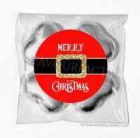 Personalised Christmas Chocolates Bags Santa Belt