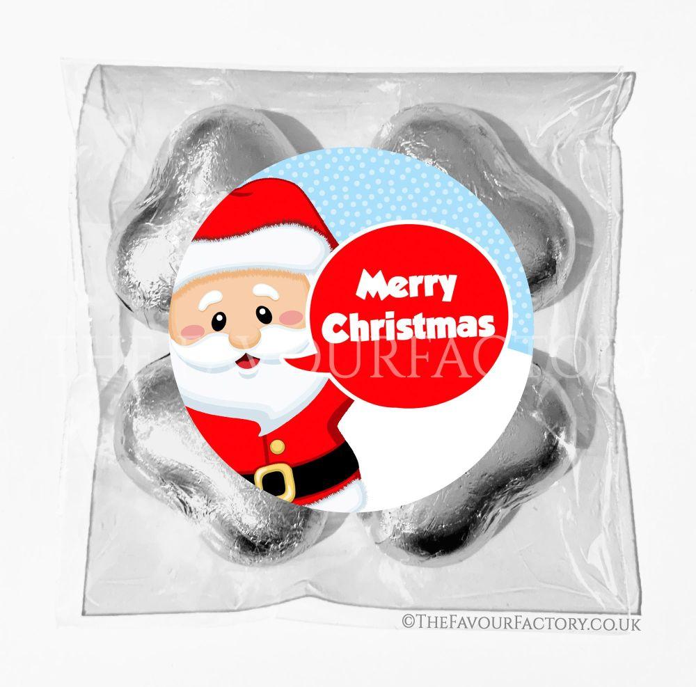 Personalised Christmas Chocolates Bags Santa Speech Bubble