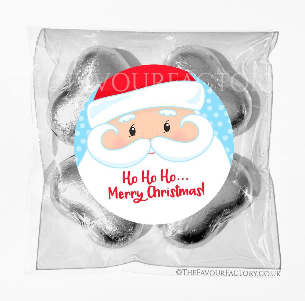 Personalised Christmas Chocolates Bags Santa Face