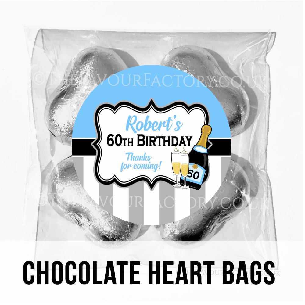 Personalised Birthday Chocolate Heart Bags