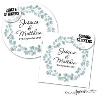 Wedding Stickers Eucalyptus Wreath