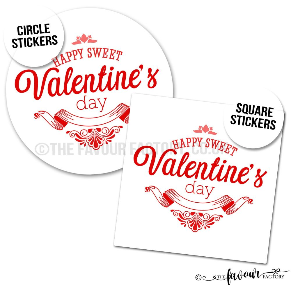 Happy Sweet Valentine's Day Stickers
