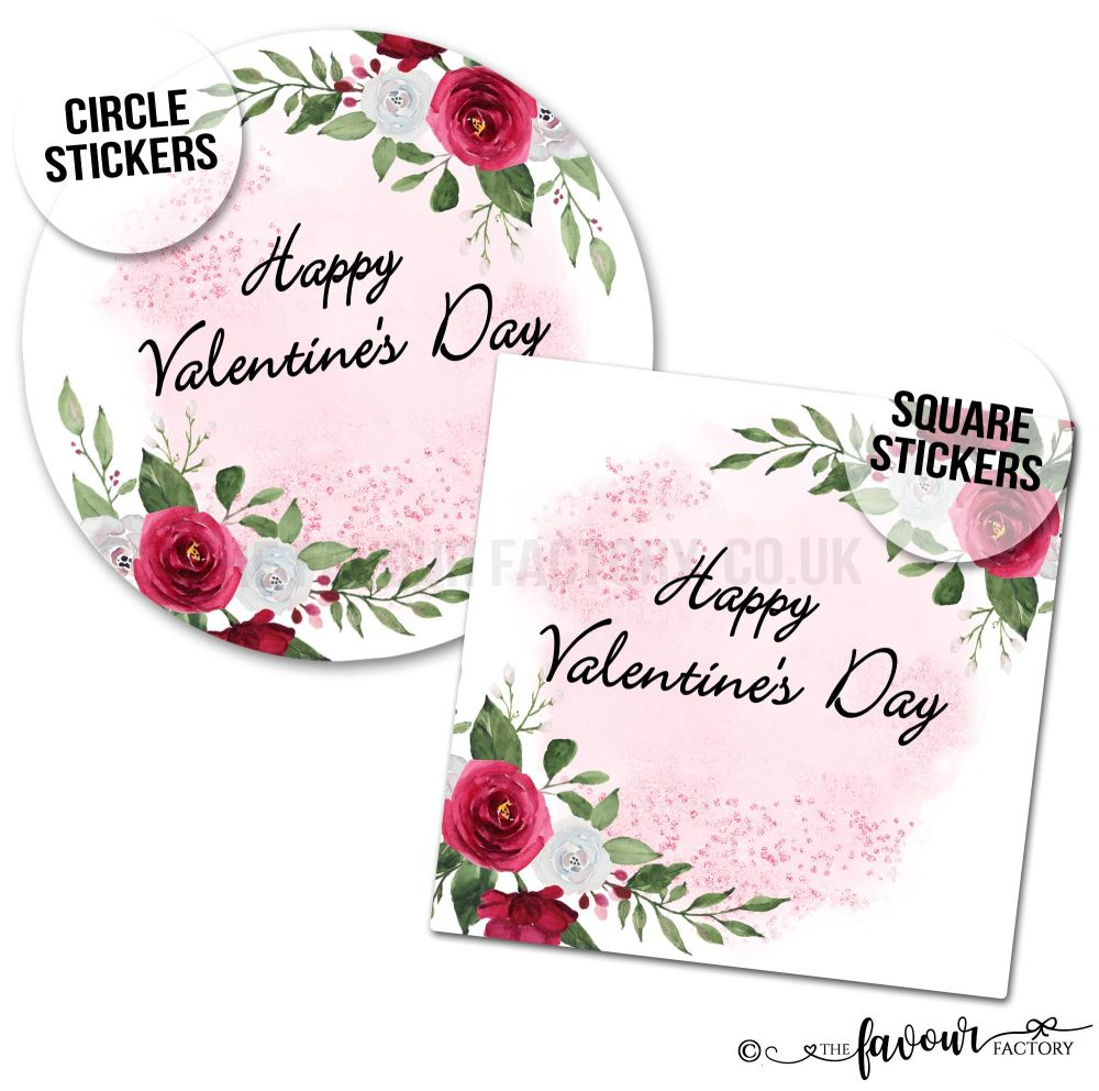 Valentine's Day Stickers Romantic Roses