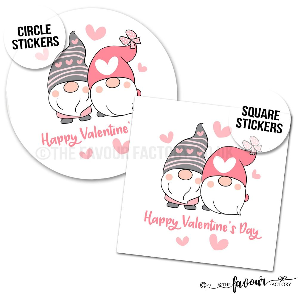Valentine's Day Stickers Gonk Gnomes