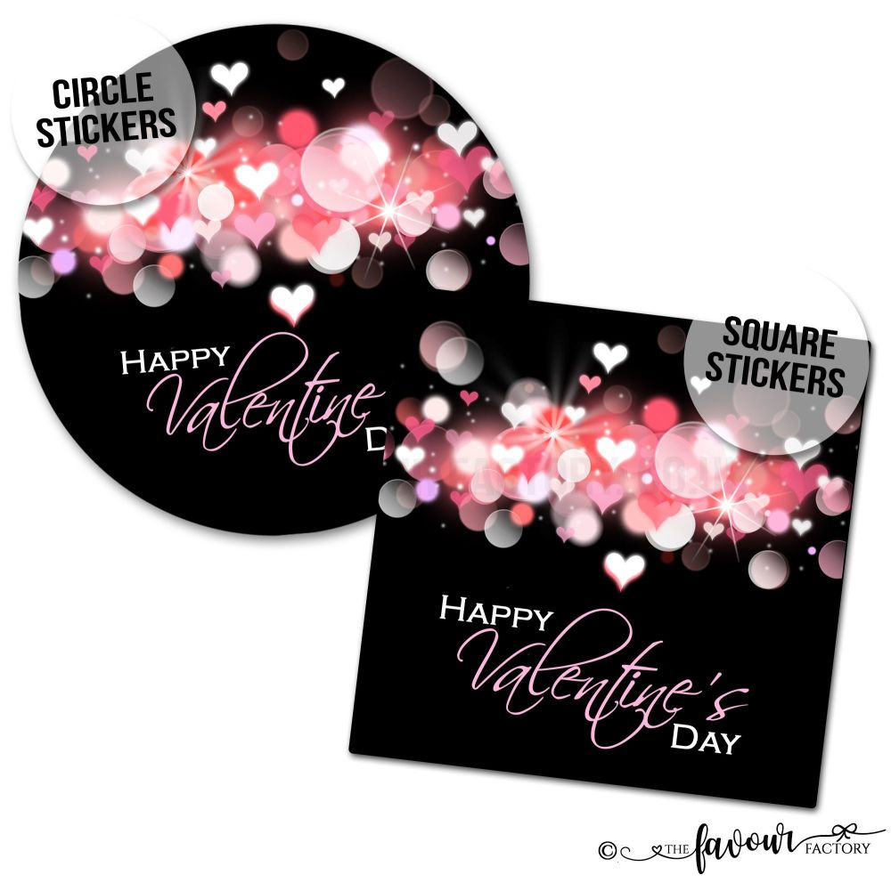 Valentine's Day Stickers Light Bubbles