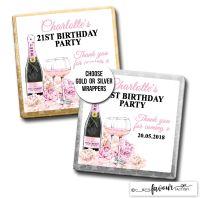 Birthday Chocolates Champagne & Flowers x10