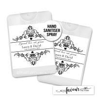 Hand Sanitiser Wedding Favours Elegance x1