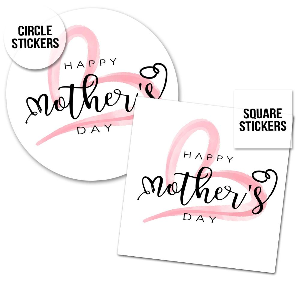 Happy Mother's Day Stickers Modern Heart