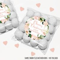 Christening Sweet Bags Kits Personalised Blush Hydrangeas x12