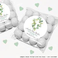 Christening Sweet Bags Kits Personalised Botanical Cross x12