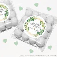 Christening Sweet Bags Kits Personalised Botanical Gold Dust x12
