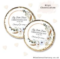Christening Mint Chocolates Personalised Bohemian Floral Wreath x10