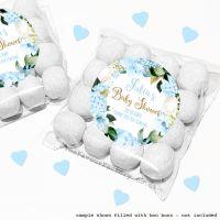 Baby Shower Sweet Bags Kits Blue Hydrangeas x12