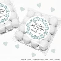 Baby Shower Sweet Bags Kits Eucalyptus Wreath x12