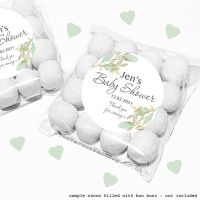 Baby Shower Sweet Bags Kits Botanical Gold Leaves x12