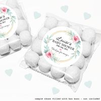 Baby Shower Sweet Bags Kits Gold Frame Roses x12