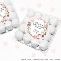 Baby Shower Sweet Bags Kits Vintage Roses Wreath x12