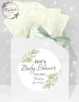 Baby Shower Party Bags Botanical Gold Leaf x1