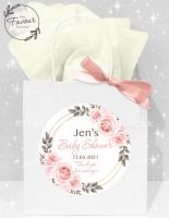 Baby Shower Party Bags Blush Roses Frame x1