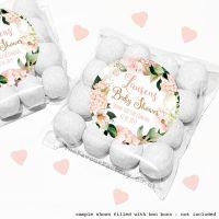 Baby Shower Sweet Bags Kits Blush Hydrangeas x12