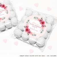 Baby Shower Sweet Bags Kits Floral Star Frame x12