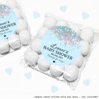 Baby Shower Sweet Bags Kits Blue Sparkle Glitter Confetti x12