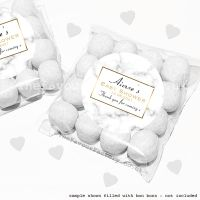 Baby Shower Sweet Bags Kits Marble Print x12