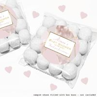 Baby Shower Sweet Bags Kits Rose Gold Geometric x12