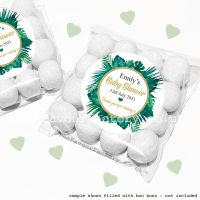 Baby Shower Sweet Bags Kits Tropical Palm Leaves x12