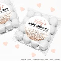 Baby Shower Sweet Bags Kits Rose Gold Glitter Confetti x12