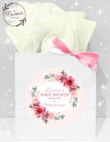 Baby Shower Party Bags Pink Floral Star x1