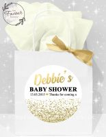 Baby Shower Party Bags Gold Glitter Confetti x1