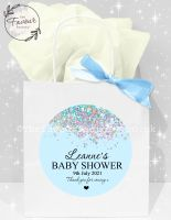 Baby Shower Party Bags Blue Glitter Confetti x1