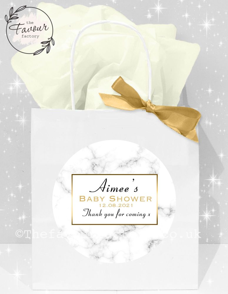 Baby Shower Party Bags Marble Print x1