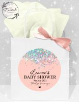 Baby Shower Party Bags Rose Gold Sparkle Glitter Confetti x1