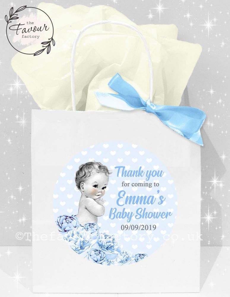 Baby Shower Party Bags Vintage Baby Boy x1