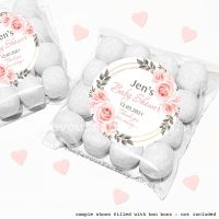 Baby Shower Sweet Bags Kits Blush Roses Frame x12